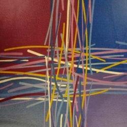 trapunta piumino ms. 180 x 250 Quadri viola