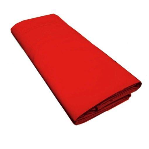 Lenzuolo 2 piazze con angoli 100%cotone rosso